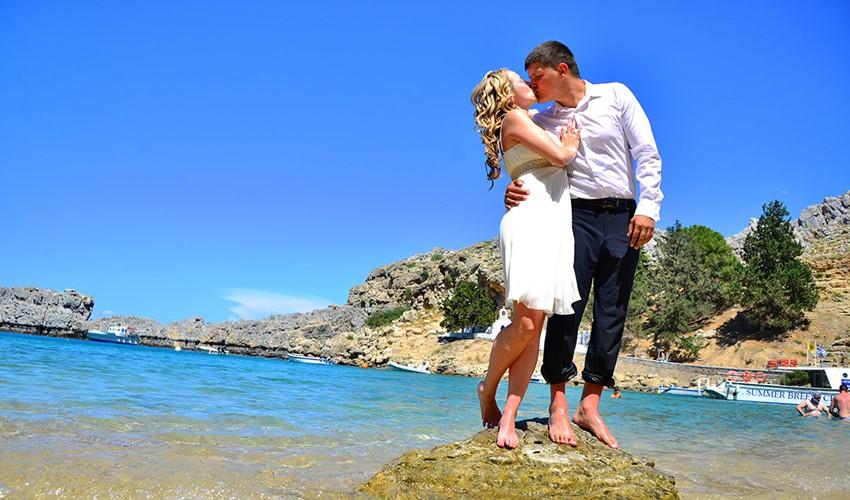 Свадьба у моря на Родосе
