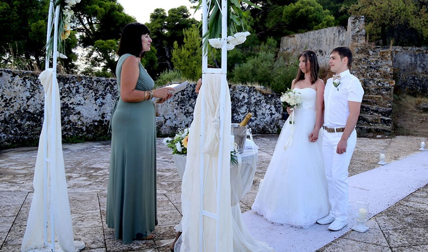 Oфициальное бракосочетание в Греции на острове Закинф