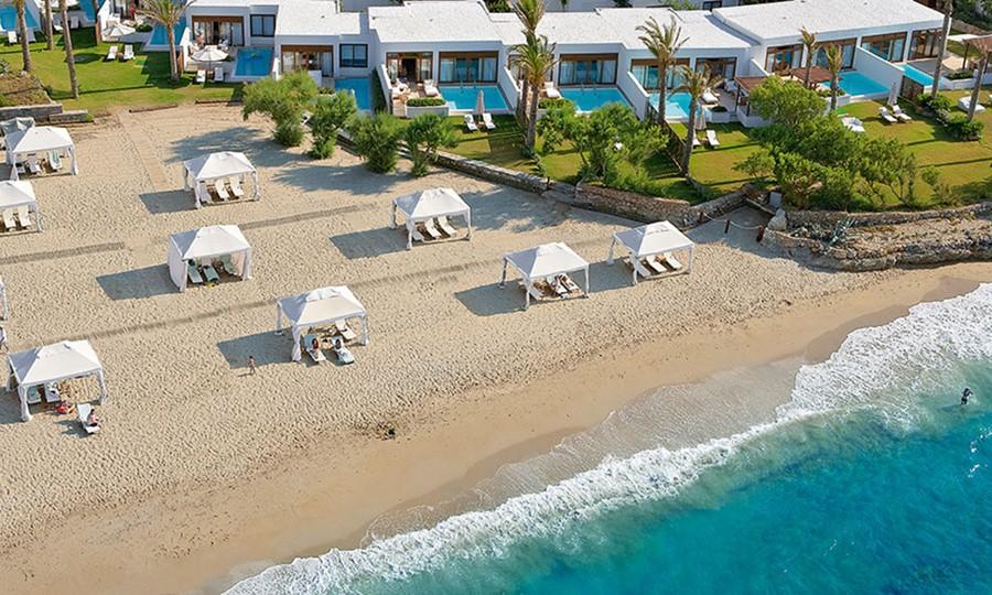 Пляж в Grecotel Amirandes