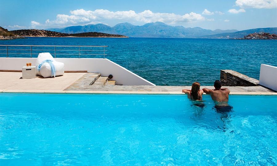 Minos Beach art hotel. Presidential 3 bedroom villa exterior