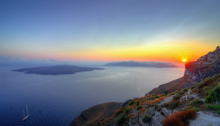 Легендарный вулкан острова Санторини, Санторини