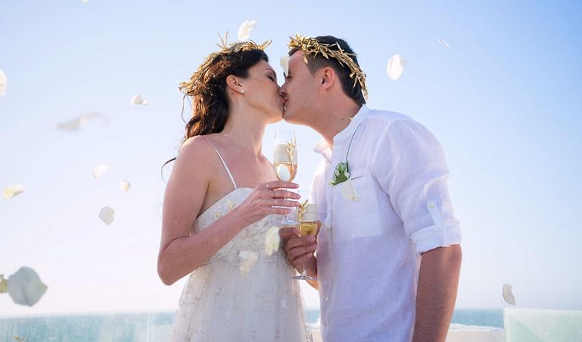 Свадьба в Греции в античном стиле