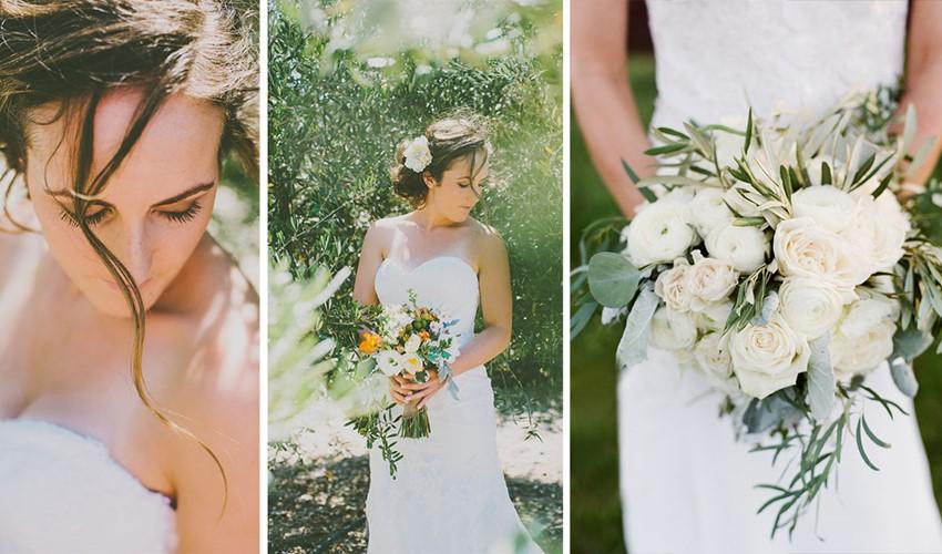 Символическая свадебная церемония в оливковом стиле в Греции на полуострове Халкидикахи