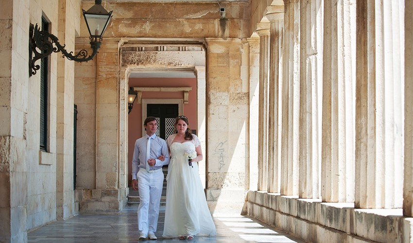 Oфициальное бракосочетание в Греции на острове Корфу