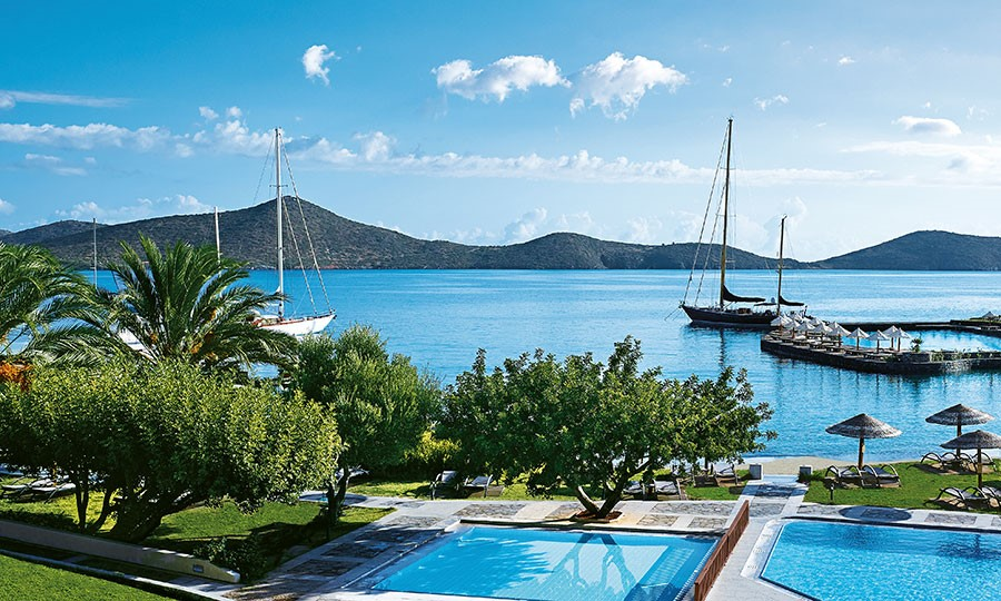 Porto elounda GOLF & SPA RESORT.  Pool, Kids pool and Private Sandy Beach