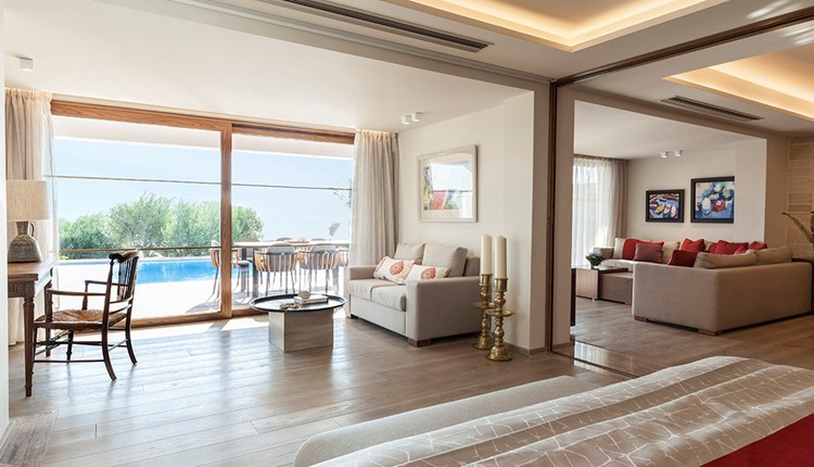 Minoan Palace 4Bedroom Royalty Suite Sea View Private pool