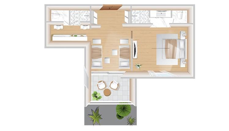 Boshcheto 2Bedroom Family Suite