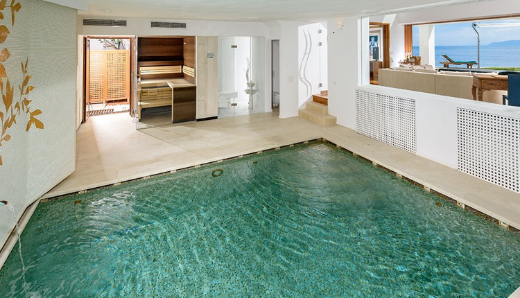 Royal Grand Suite with Private Heated Outdoor pool & Indoor Pool, Sauna, Steam Room